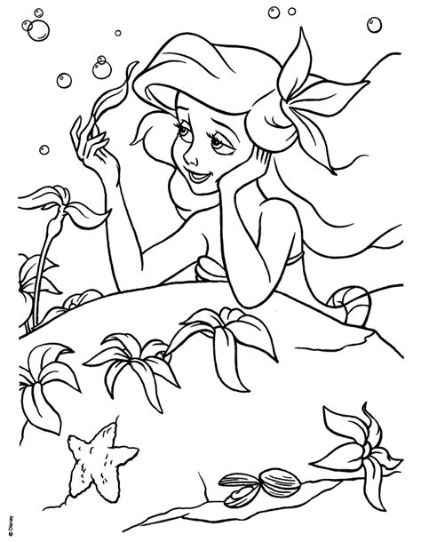 disney coloring pages spring disney princess ariel coloring pages coloring home