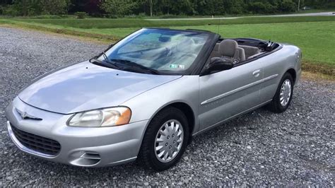 Chrysler Sebring 2001 Convertible by 2001 Chrysler Sebring Lx Convertible