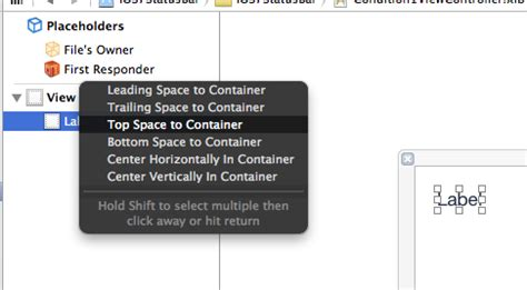 xcode top layout guide not showing ios is there any way to add constraint between a view