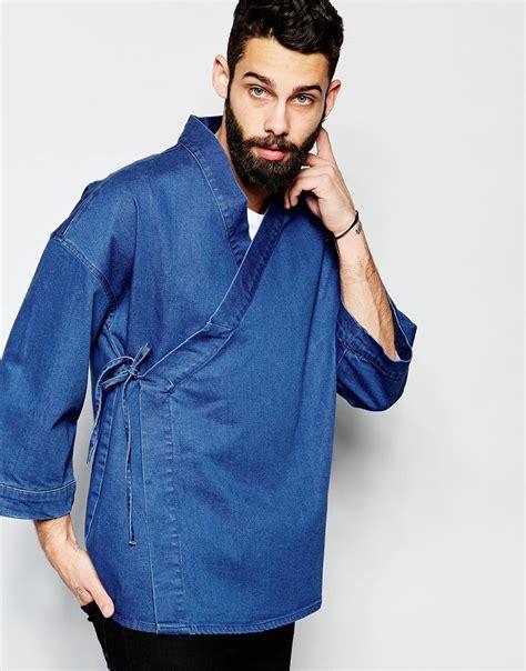 image   asos denim wrap front kimono  closet