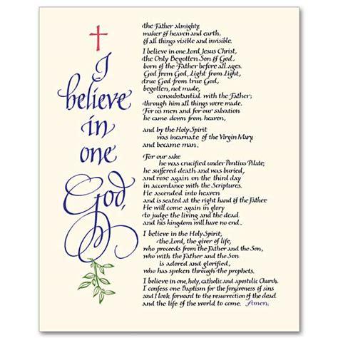 Printable Version Nicene Creed | sacco religious items