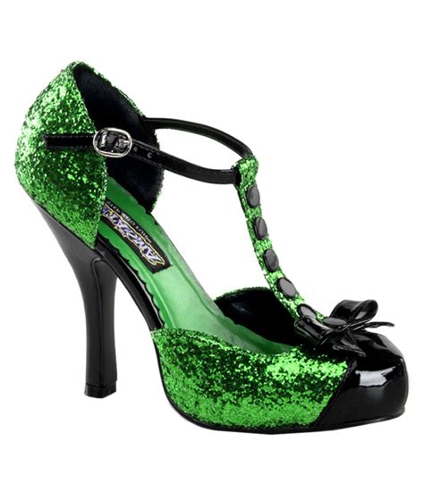 green shoes womens festive glitter green shoes costume craze
