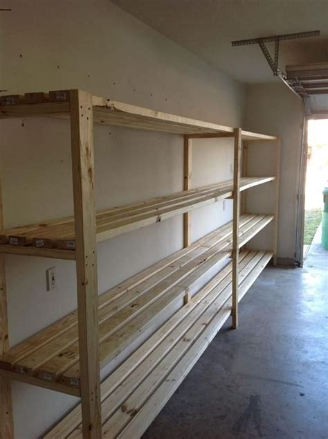 Diy Garage Storage Racks by 25 Unique Garage Shelving Plans Ideas On