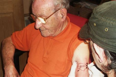 tattoo parlour kilmarnock kilmarnock 90 year old facebook user who got his first