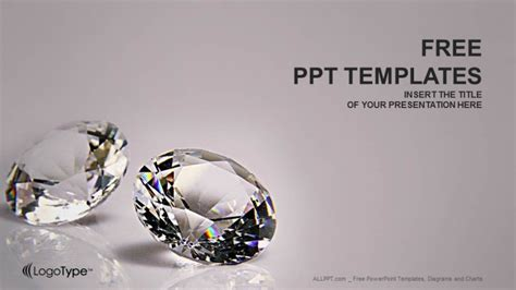 powerpoint templates jewellery diamond recreation powerpoint templates