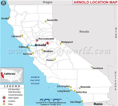 arnold located  california usa