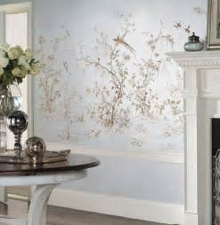 Wall Stickers Tree Branches silver leafed chinoiserie wall mural mura 1001