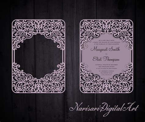 free wedding gate fold card template silhouette ornamental wedding invitation frame card template 5x7