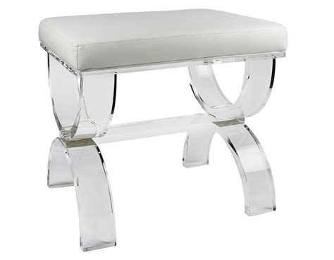 vanity stool bench crystal acrylic vanity bench