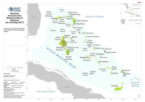 bahamas hurricane irma reference map  bahamas