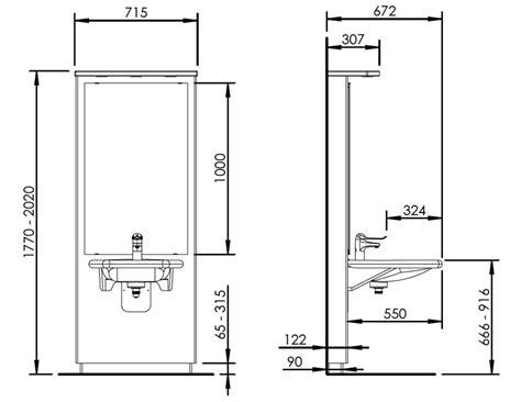 bathroom mirror height from floor washbasin lift designline 417 electric height