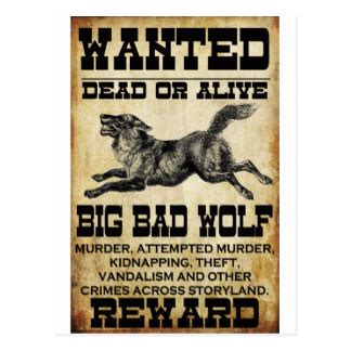 printable wanted poster for the big bad wolf big bad gifts on zazzle