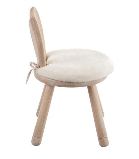 chaise en bois enfant chaise enfant en bois oreilles de lapin