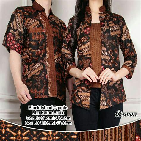 Blouse Atasan Kemeja Batik Wanita atasan blouse kemeja wanita pria batik black island
