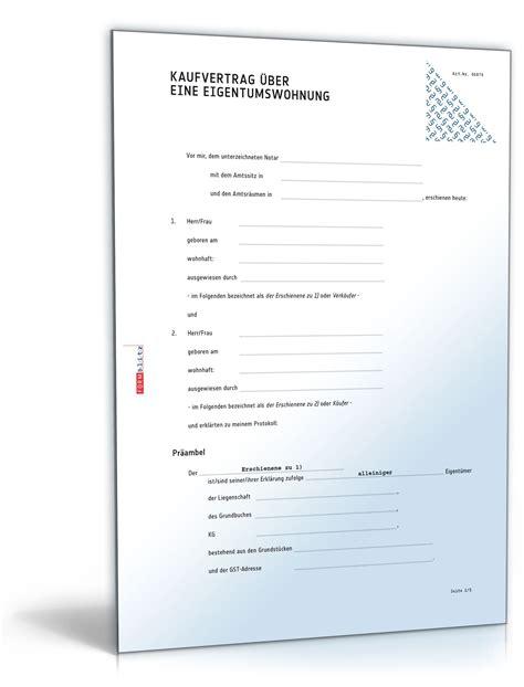 Kaufvertrag Motorrad Was Beachten by Kaufvertrag 252 Ber Eine Eigentumswohnung Muster Vorlage