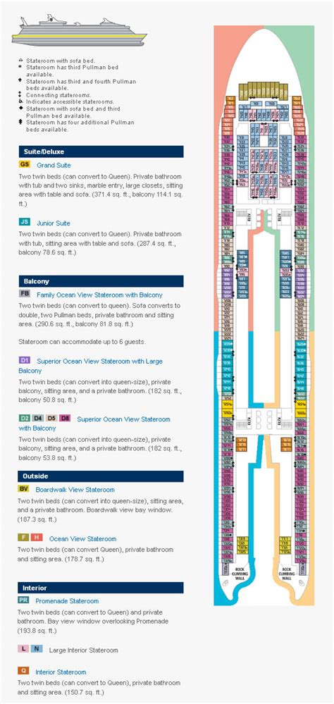 oasis of the seas floor plan deck plans cruise deck design and ideas