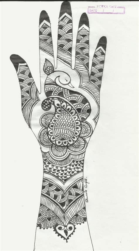 henna design sketches peacock creative arty page 2