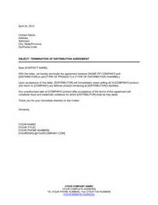 estate distribution letter template termination of distribution agreement template sle