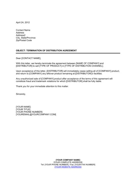 contract termination letter real estate forms