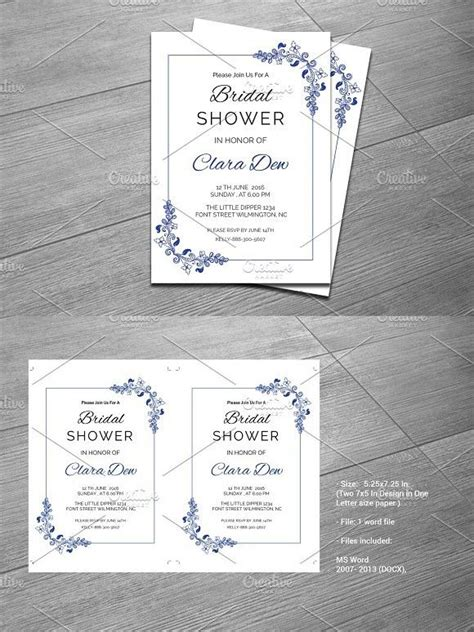 bridal shower menu template 1000 ideas about invitation templates on