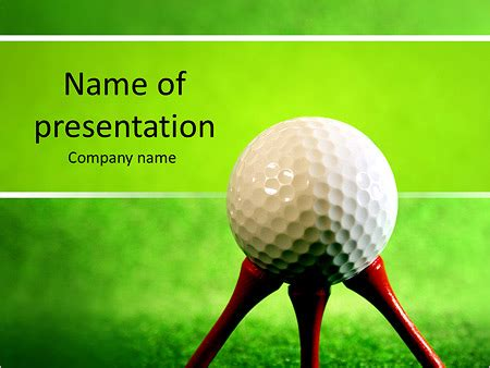 Golf Powerpoint Template Backgrounds Id 0000006385 Smiletemplates Com Golf Powerpoint Template