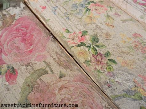 how to decoupage paper on wood 25 best ideas about decoupage table on modge