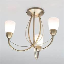 brass ceiling lights uk madrid semi flush ceiling light 3 light antique brass