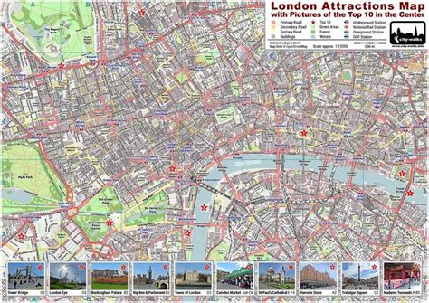 printable area in a4 london attractions map pdf printable on a4 a3