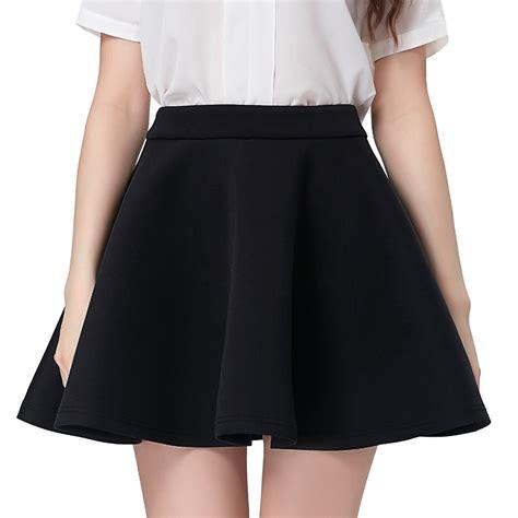 Foot Black Rok Mini black skater skirt 2017 summer womens high waist mini skirts above knee vintage 50s casual