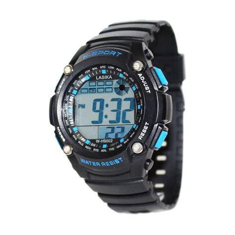 Jam Tangan Lasika Sport Black jual lasika w h9002 jam tangan pria black blue