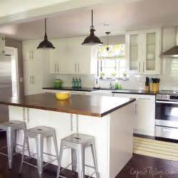 One Wall Kitchen With Island Remodelaholic Popular Kitchen Layouts And How To Use Them