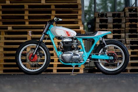 Kawasaki Traker kawasaki w650 tracker by hombrese bikes bikebound