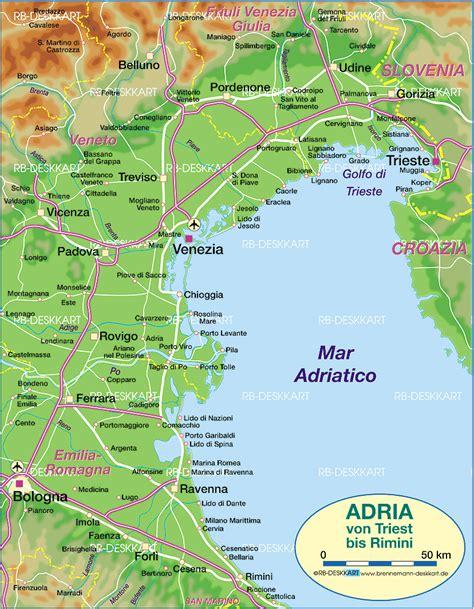 il porto adria karte adria nordteil italien karte auf welt atlas
