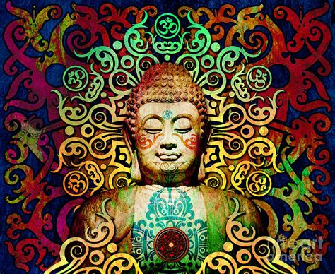 colorful buddha of transcendence colorful tribal buddha digital