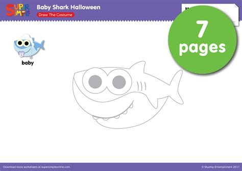 baby shark template halloween resource topic super simple