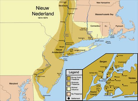 new netherlands map new netherland settlements areas of influence 1614