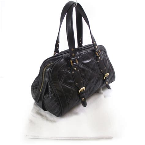 Marc Quilted Goatskin Bowler by Marc Leather Quilted Emily Bowler Black 19639