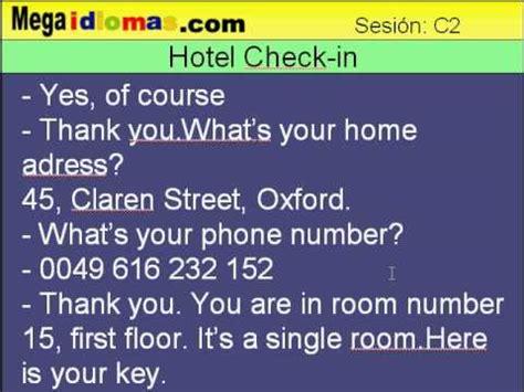 preguntas en frances en un hotel conversaci 243 n hotel check in curso de ingles megaidiomas