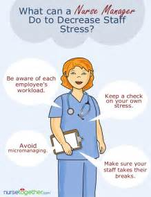rn manager work from home what can a manager do to decrease staff stress