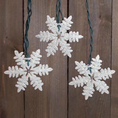 outdoor snowflake lights string novelty string lights string lights glitter snowflakes 9 ft outdoor in warm white walmart