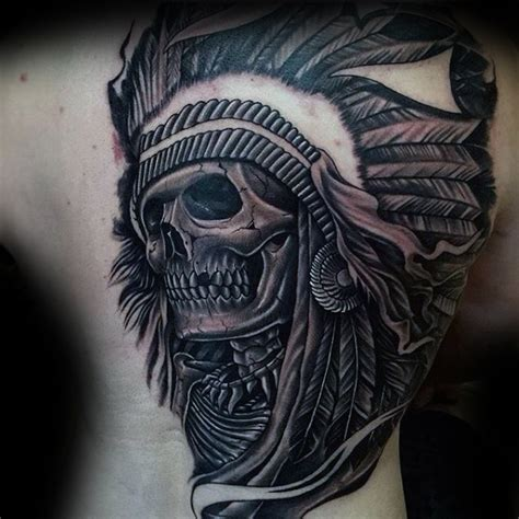 80 indian skull tattoo designs for men tattoos for men
