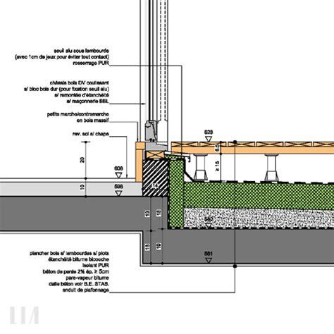 Terrasse Detail by D 233 Tails Techniques Noeuds Constructifs Lia Bureau D