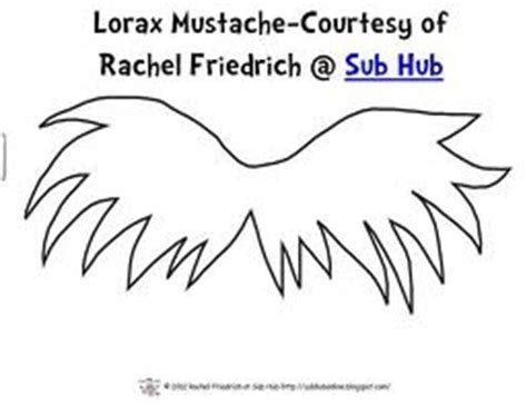lorax mustache template 17 best images about the lorax on earth day