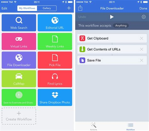 ios workflow workflow review integrated automation for ios 8 macstories