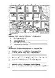 giving directions printable exercises english kids fun giving directions online worksheets