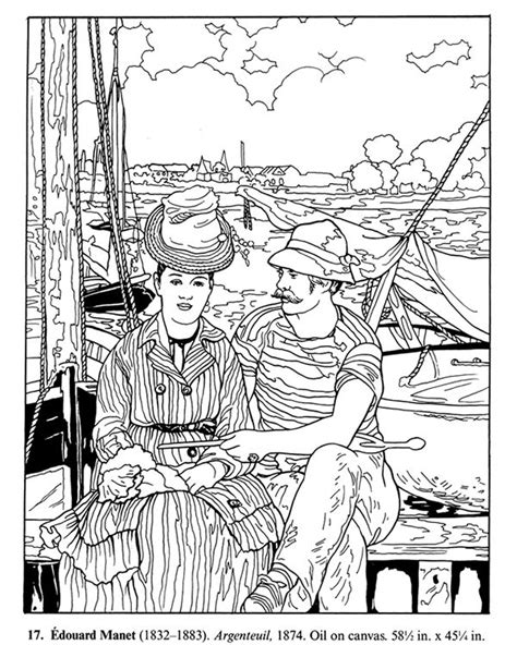 Impressionist Coloring Book impressionist coloring book welcome to dover publications