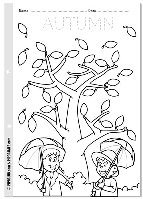 autumn coloring pages for kindergarten coloring pages preschool fall worksheets fall