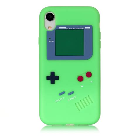 boy pattern silicone protective for iphone xr green alexnld