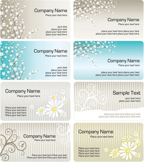 elegant business card template pattern vector free vector