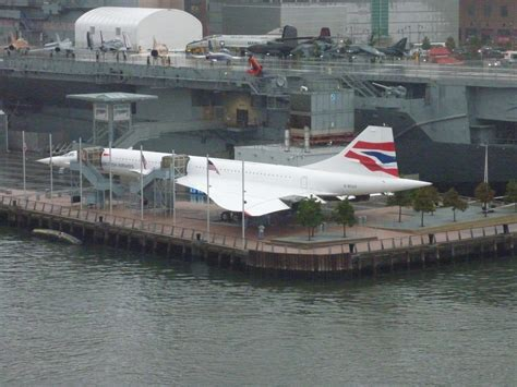 Free Stock P O  Retired Concorde Airliner At Pier